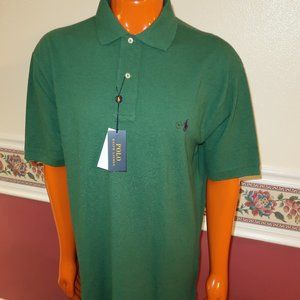 MENS POLO RALPH LAUREN GREEN SIZE XLT TALL SHIRT